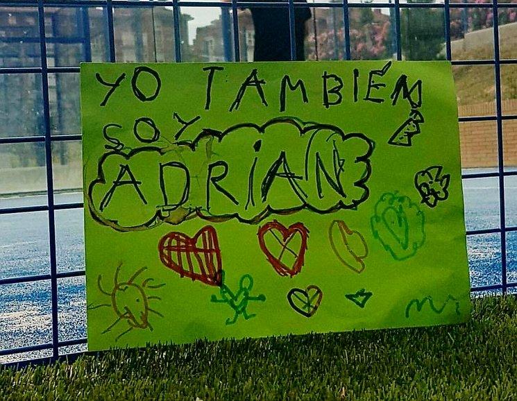 Cartel hecho por Adriana, la hija del Autor