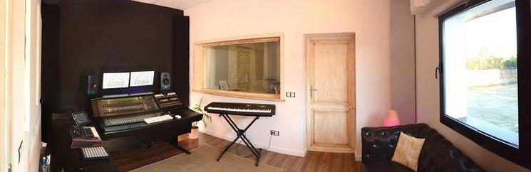 Sala de control del estudio
