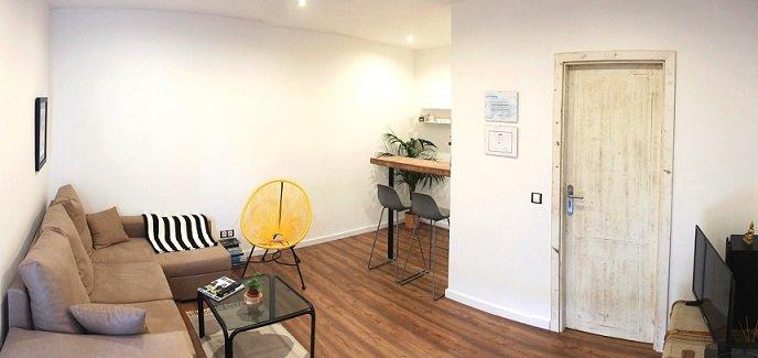 Sala de descanso del estudio
