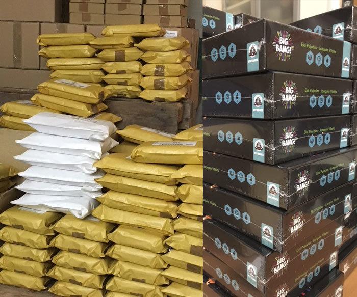 Inundados de paquetes en el almacén ¡empaquetando a mil por hora!