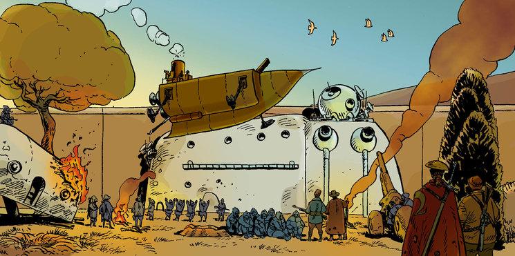 Ilustración incluida extraida del cómic