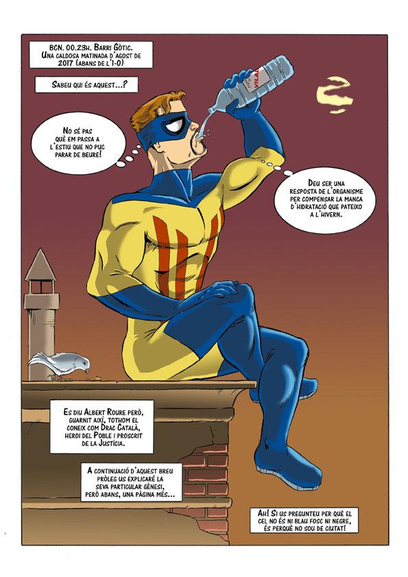 Primera pàgina del còmic. Un moment de relax!
