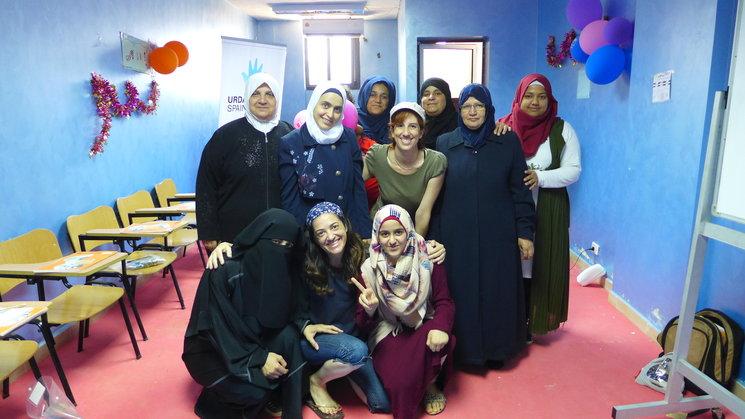 Hala, Houda, Fatima, Najar, Zaria, Rana, Rahma, Hanadi, Aya, Irlanda y Yaiza