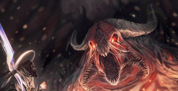 Ungido enfrentándose al Mal encarnado - Detalle de portada - Manuel Piedra
