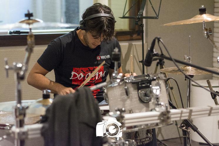 Julián en una de las jornadas de grabación.