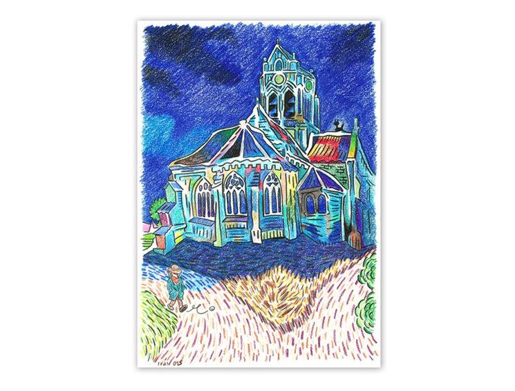 Ejemplo de dibujo a la carta realizado para un mecenas del anterior proyecto.