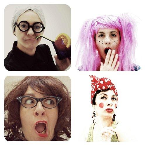 Algunos de los personajes del fanzine