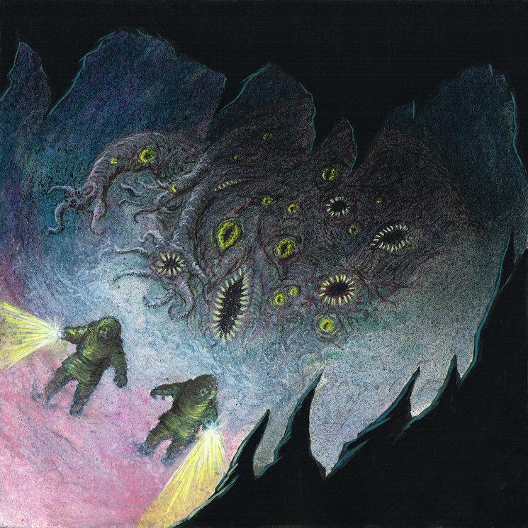 Huída del shoggoth. Ilustración para la portada de la edición de lujo limitada.