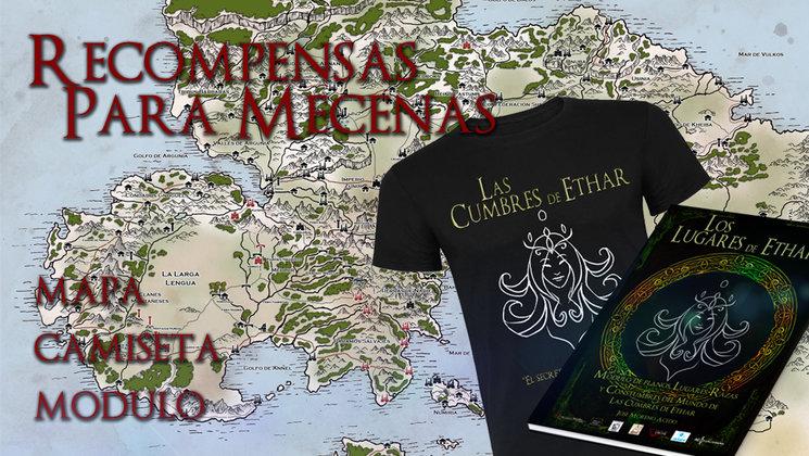 Módulo, camiseta y plano (Epicmaps) que se incluirán en las recompensas de mecenazgo