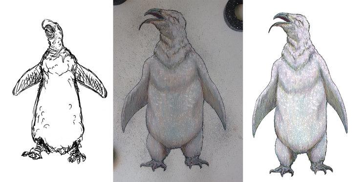 Proceso de ilustración: Boceto, técnica de tipo mixto y digitalización de la ilustración final