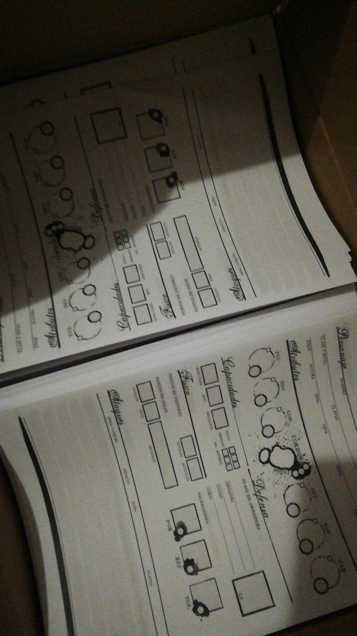 Las fichas de cuatro páginas que hemos incluido...