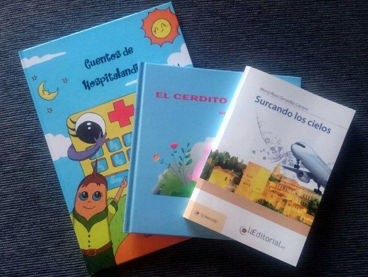 """Cuentos de Hospitalandia junto a otros libros que proponemos como recompensas: """"Pack para pequeños lectores"""" junto a otro libro infantil (oferta cedida por la editorial) o """"Pack de libros para toda la familia"""", junto a otro libro de la misma autora"""