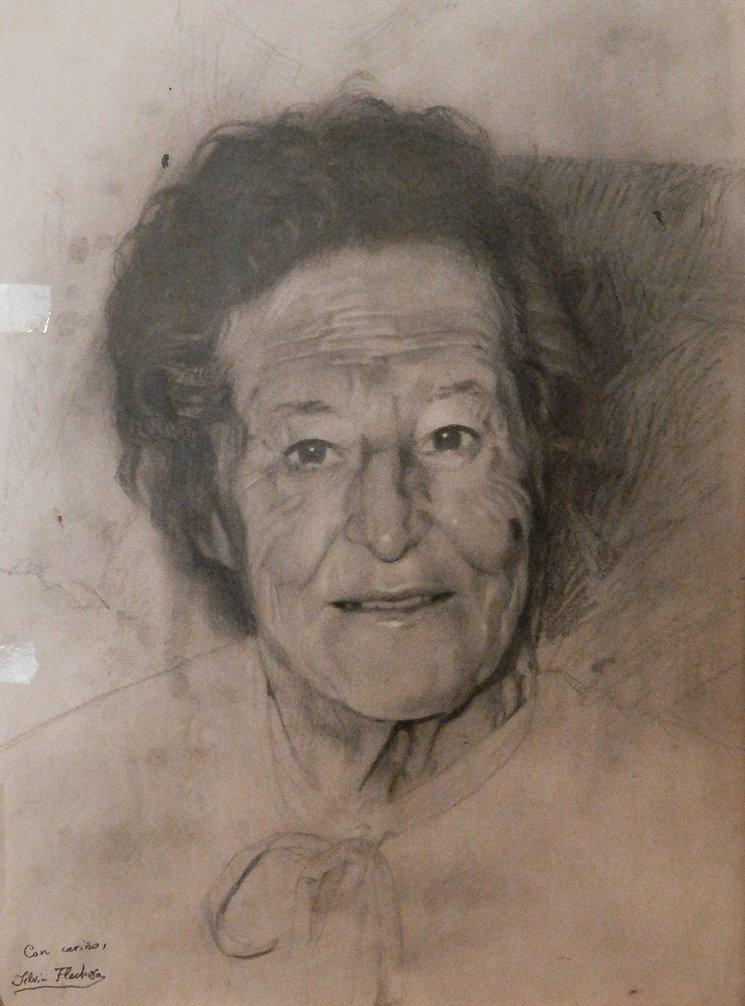 Abuela María / lápiz sobre papel / 36x27,5cm / Silvia Flechoso 2015
