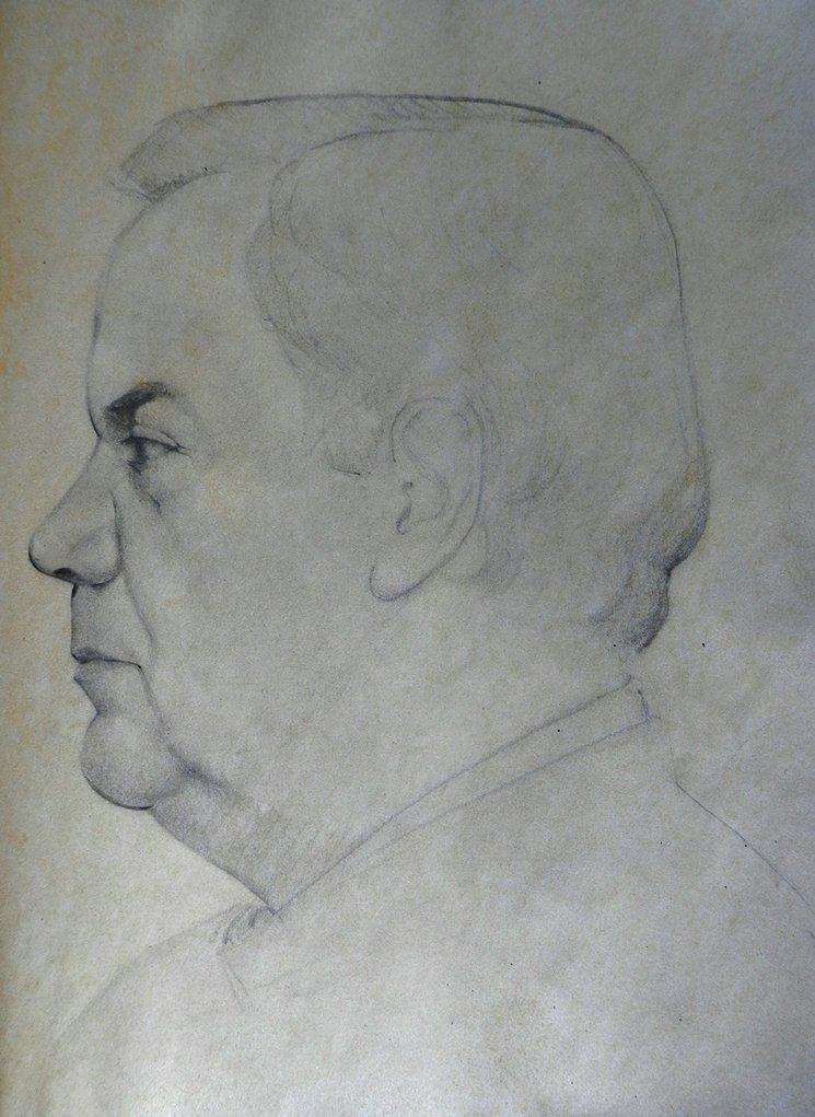 Padre II / lápiz sobre papel / 36x27,5cm / Silvia Flechoso 2015