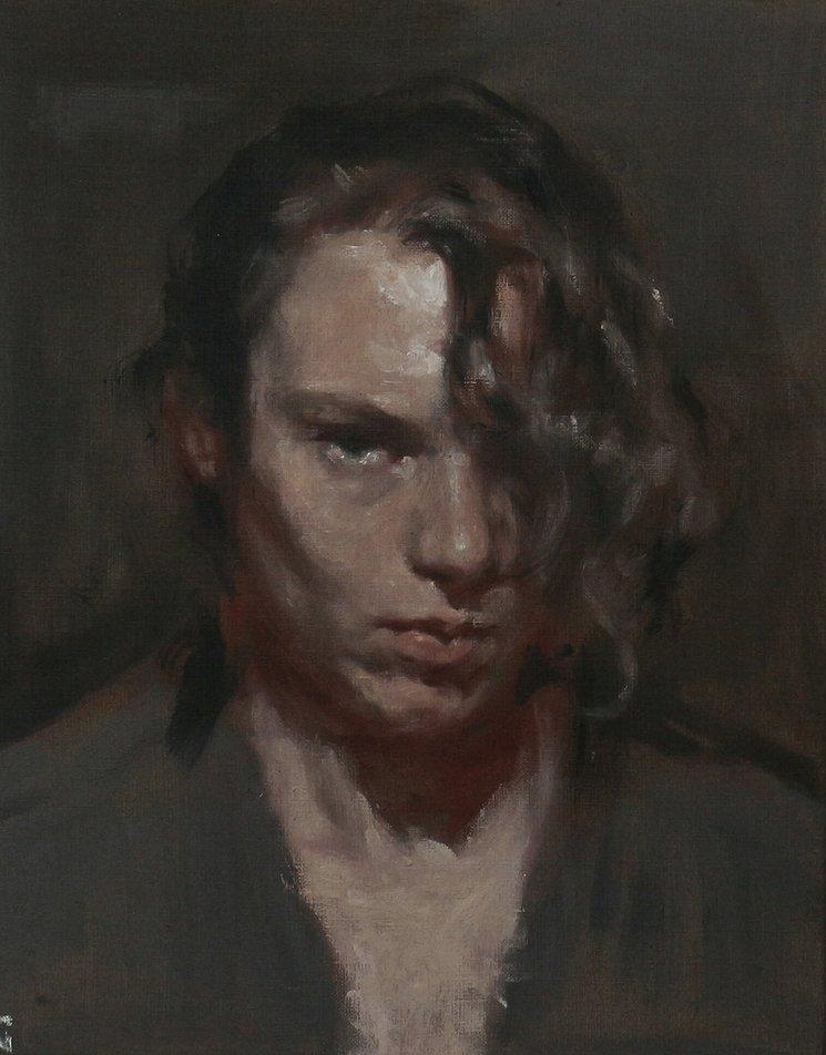 Me hiere / óleo sobre lienzo, 40x30cm/ Silvia Flechoso 2017