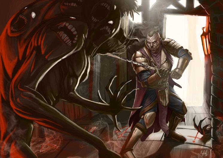 Soldado de la Fe vs Demonio Menor de la Gula - Rafael Majano
