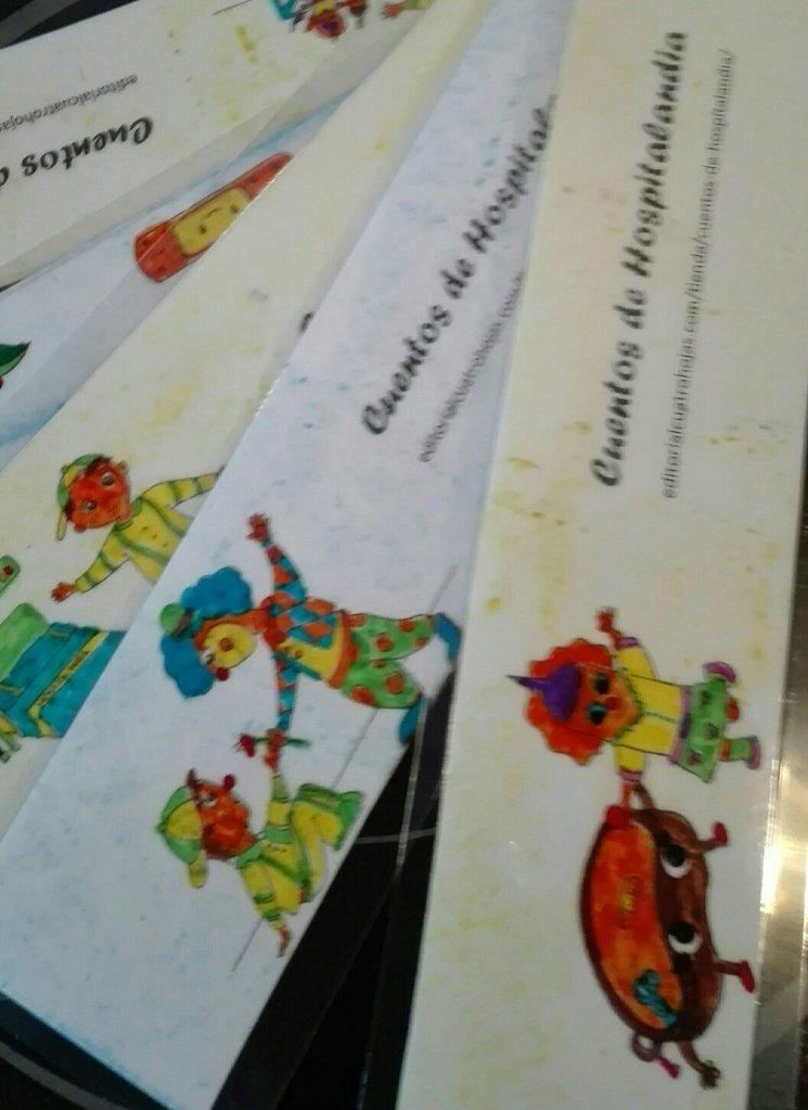 Marcapáginas coloreados por los niños
