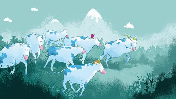 Las vacas azules son tendencia