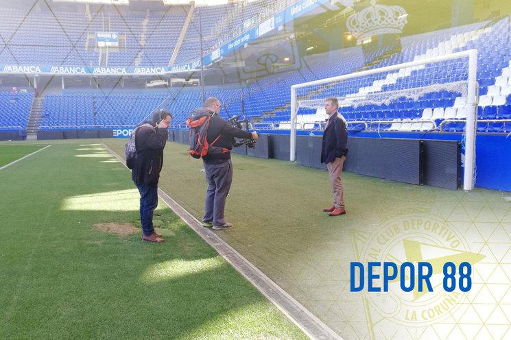 Rodando el Teaser. César seijas (director), Iago Váquez y Vicente Celeiro.