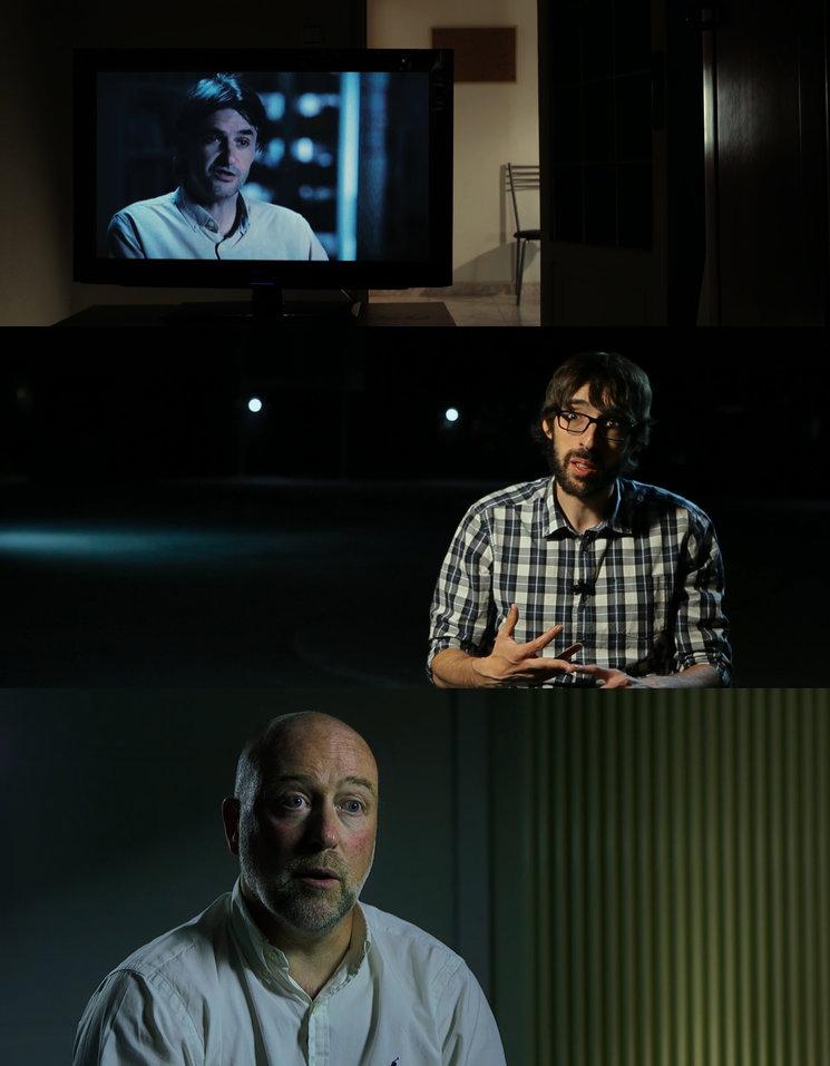 De arriba a abajo: Carlos Ribagorda, periodista infiltrado; Quique Peinado, redactor de Gigantes; y Peter Van de Vliet, Director Médico del Comité Paralímpico Internacional.
