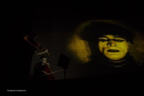 """FIM´cc 2017. Proyección de """"El Gabinete del Doctor Caligari"""" con música en directo a manos del compositor, Yuval Gotlibovich, viola, y Jonathan Gotlibovich, chelo"""