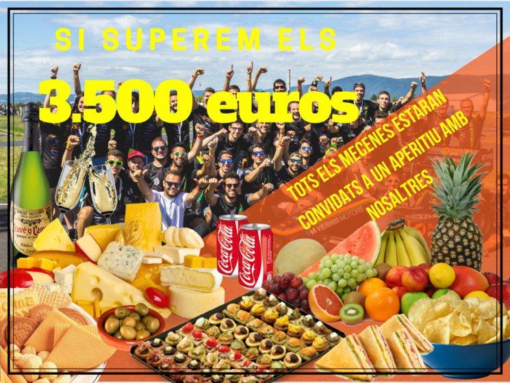 Nou objectiu: 3.500€ | Nuevo objetivo: 3.500€ | New objective: 3,500€