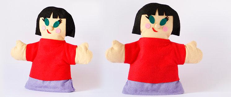 Ojos avispados y sonrisa de listilla, la marioneta de Millenia es clavada al personaje