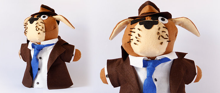 A Humphrey Bogart le sentaría como un guante la ropa hecha a medida de nuestro Inspector Mastín: sombrero, gabardina, corbata... y mirada suspicaz, ¡lo tiene todo!