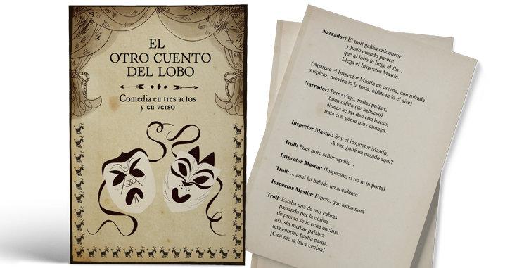 """Libreto con el guión de la obra de teatro """"El Otro Cuento del Lobo"""""""