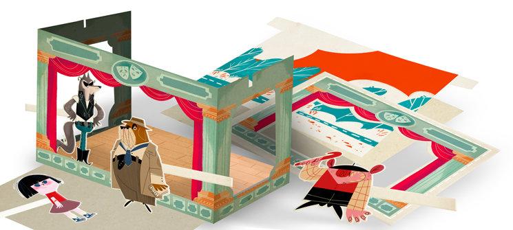 Teatro de papel recortable para montarte tu propio cuento
