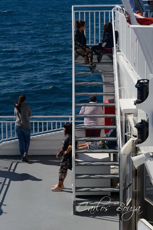 Embarcados en el ferry con destino a Tánger