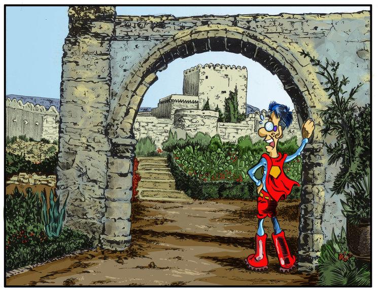 Superjoven visitando La Alcazaba