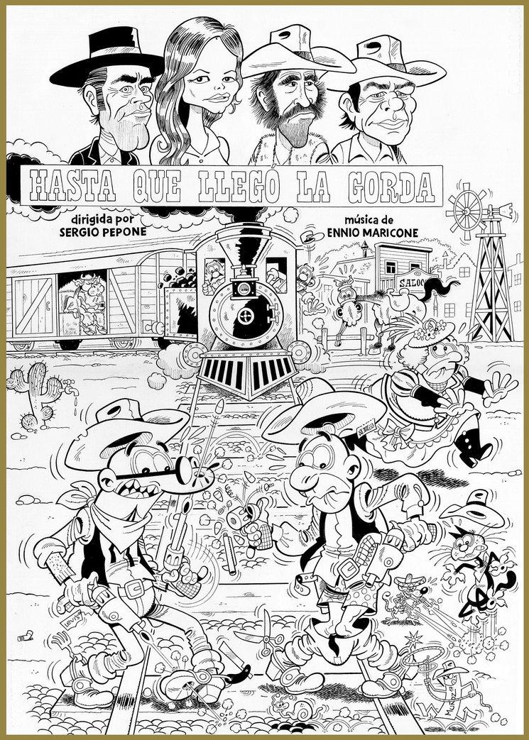 Otra de las recompensa es este dibujo original de Juan Manuel Muñoz -colaborador y ayudante del gran Francisco Ibáñez-, realizado expresamente para este crowdfunding