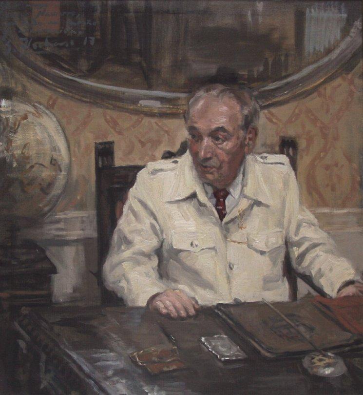César Navarro / óleo sobre lienzo, 97x91cm / Silvia Flechoso 2017