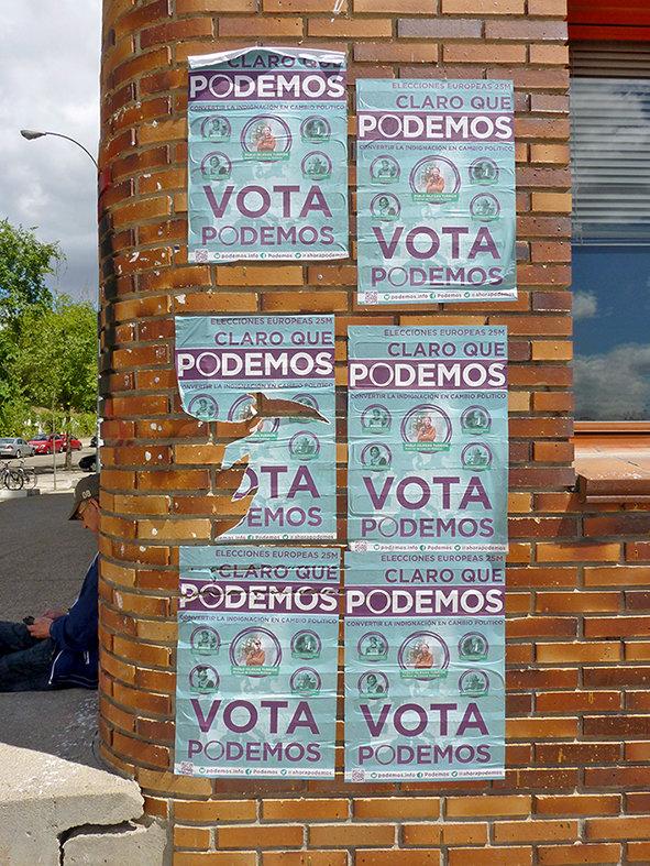 Cartel de las primeras elecciones a las que concurrió Podemos, las  europeas del 25 de mayo de 2014.