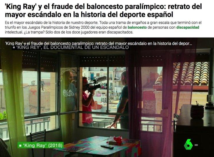 King Ray en La Sexta Noticias