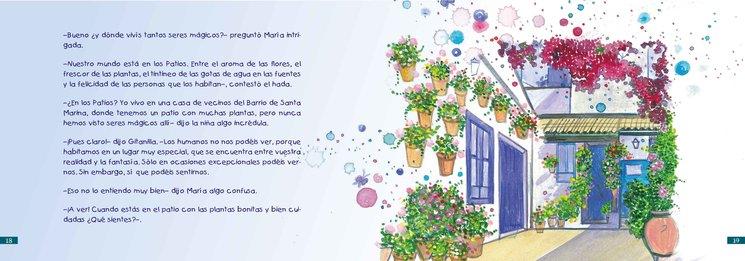 Página doble del libro