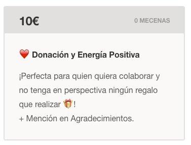 Nueva Recompensa 100% Solidaria