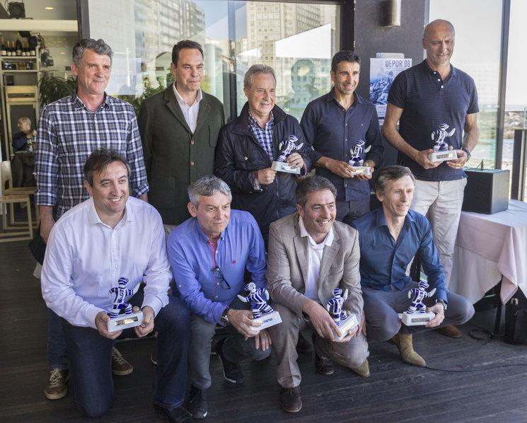 Portela, Dani Ramos, Luis Rodriguez Vaz, Jose Ramón, Agulló, Modesto, Cayetano, Vicente y Óscar