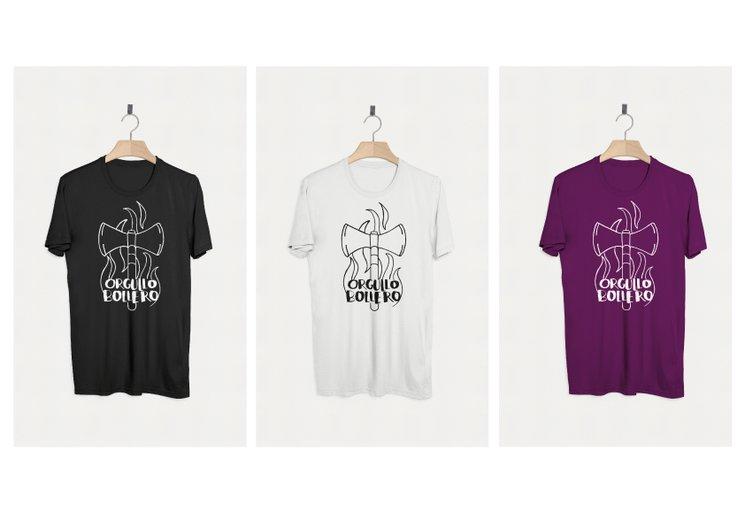 Camiseta 100% algodón orgánico con serigrafía a una tinta
