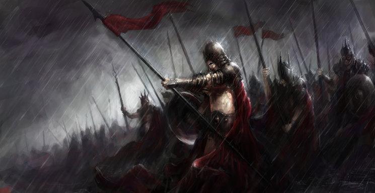 Las Legiones de Medio-Hombres, esclavos de las Sombras y su antinatural dios Bashantëe.