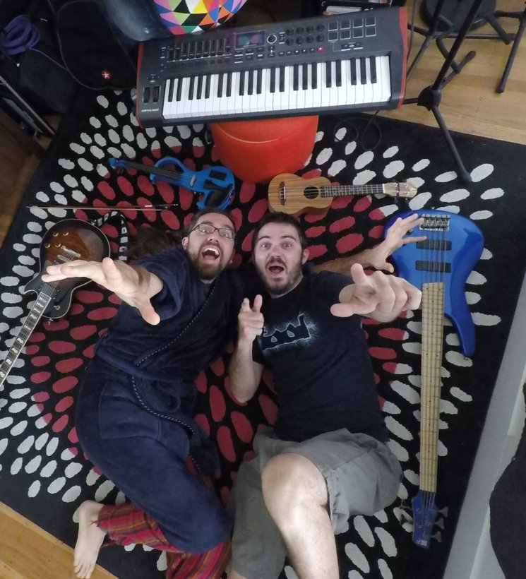 With this silly picture we concluded the early recordings of Merda Fina, here in Oakland, California