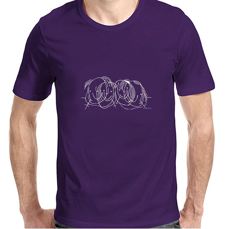 """Camiseta de hombre con el dibujo """"Los amigos"""" de Paco Bernal"""