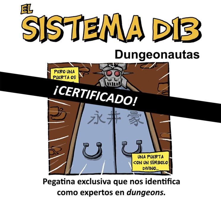 Pegatina de dungeonauta certificado
