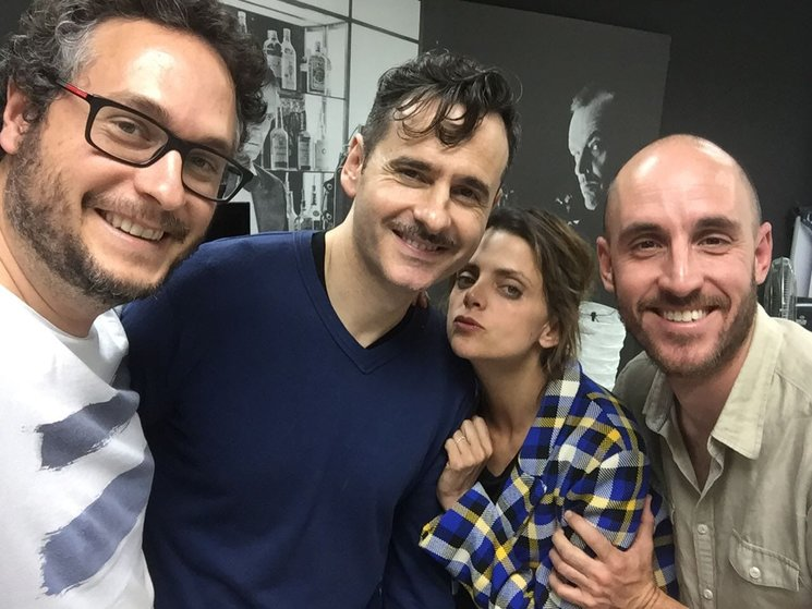 Ensayos de AMOR EN POLVO con Macarena Gómez y Luis Miguel Seguí. La verdad es que son un amor y además lo bordan.