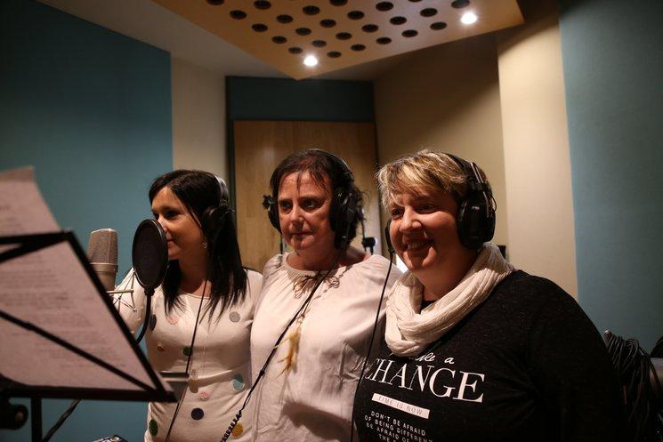 Grabación en estudio de los temas del disco