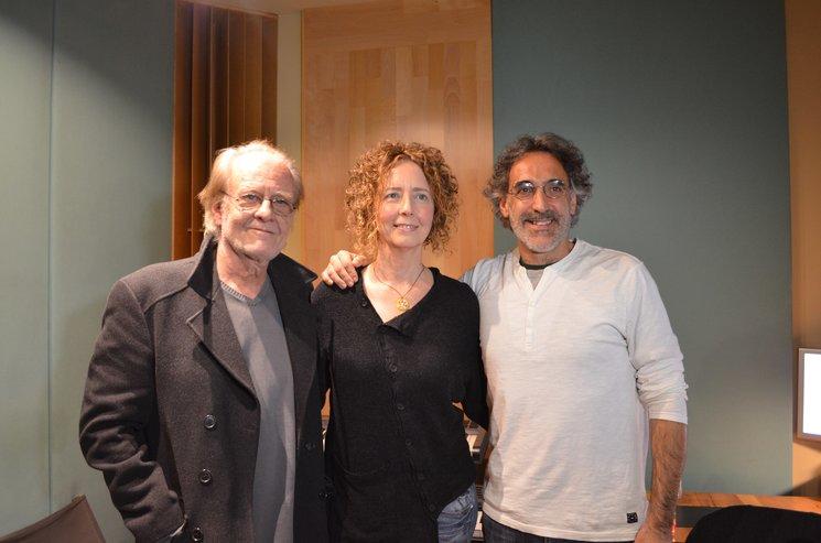 Rafa Sánchez con Luis Eduardo Aute y Olga Román