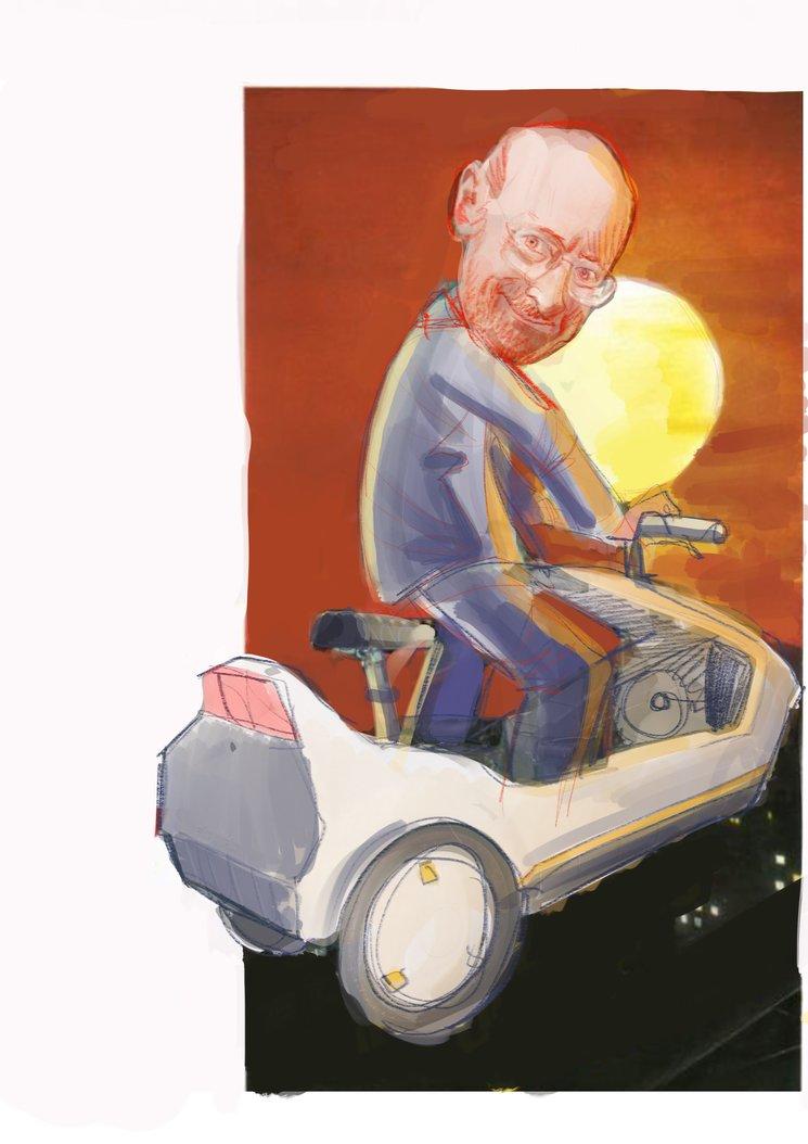 Sir Clive a lo E.T.