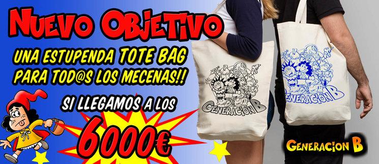 ¡¡NUEVO OBJETIVO!! TOTE BAGS PARA TOD@S LOS MECENAS