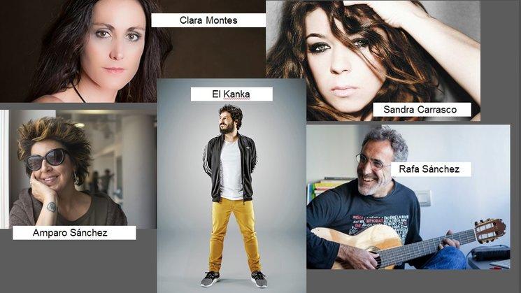 El Kanka, Clara Montes, Amaranoia, Sandra Carrasco y Rafa Sánchez